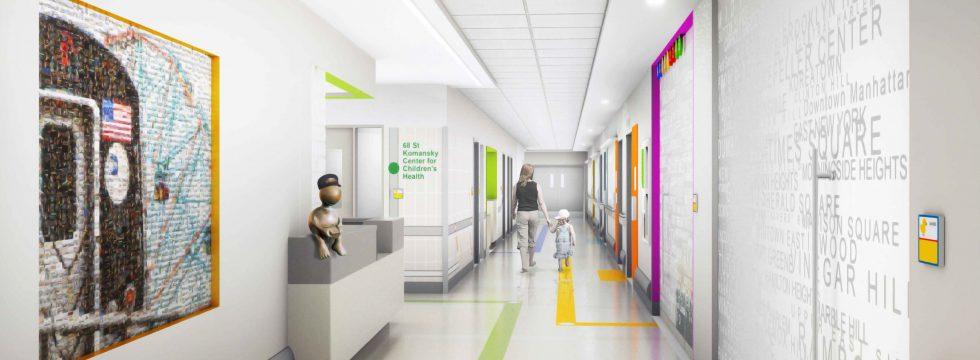 Hospital Corridor Lighting Design: New York Presbyterian Hospital Pediatric Burn Unit